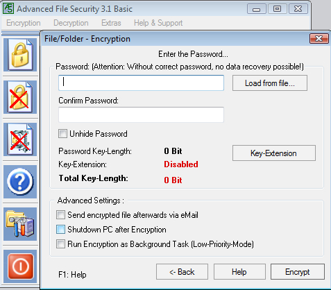 Click to view Advanced File Security Basic screenshots